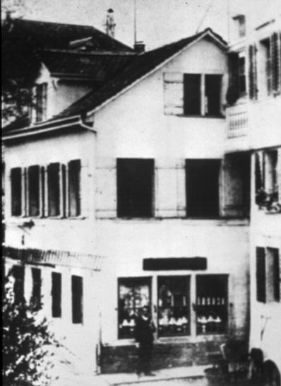 Der Laden an der Lindenstrasse,um 1900