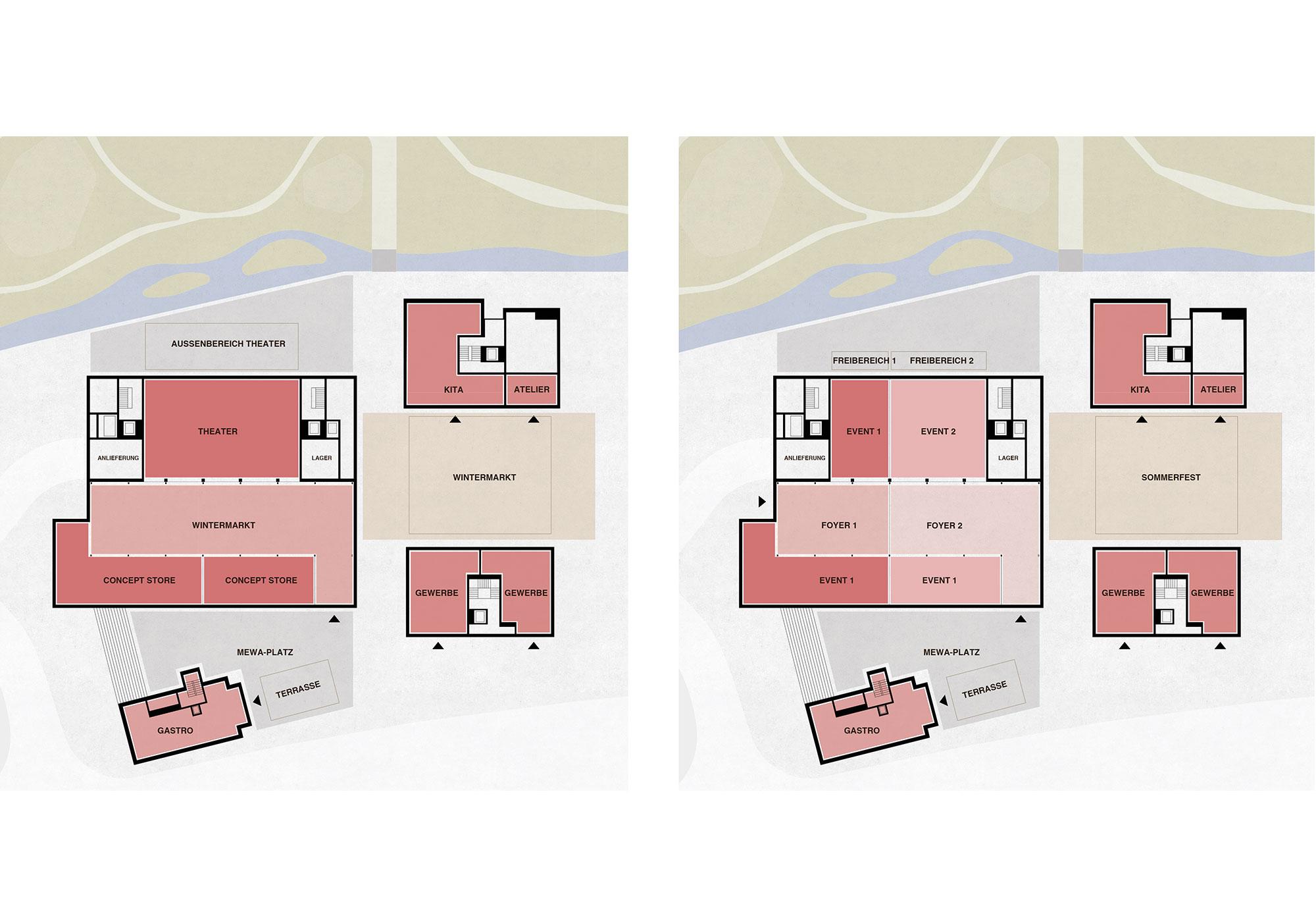 Flexibilität Nutzungsmodul Bühne - Szenario 3 und 4
