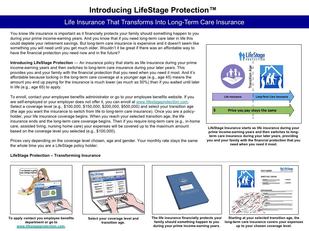 One-page description for LifeStage Protection concept