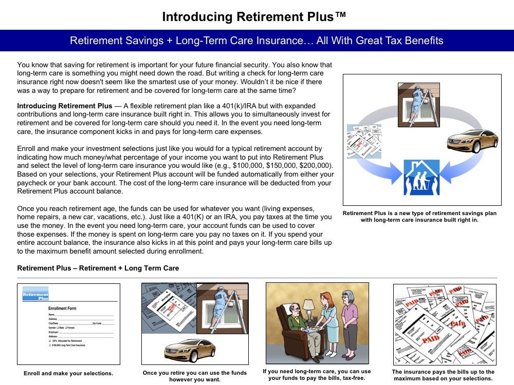 One-page description for RetirementPlus concept