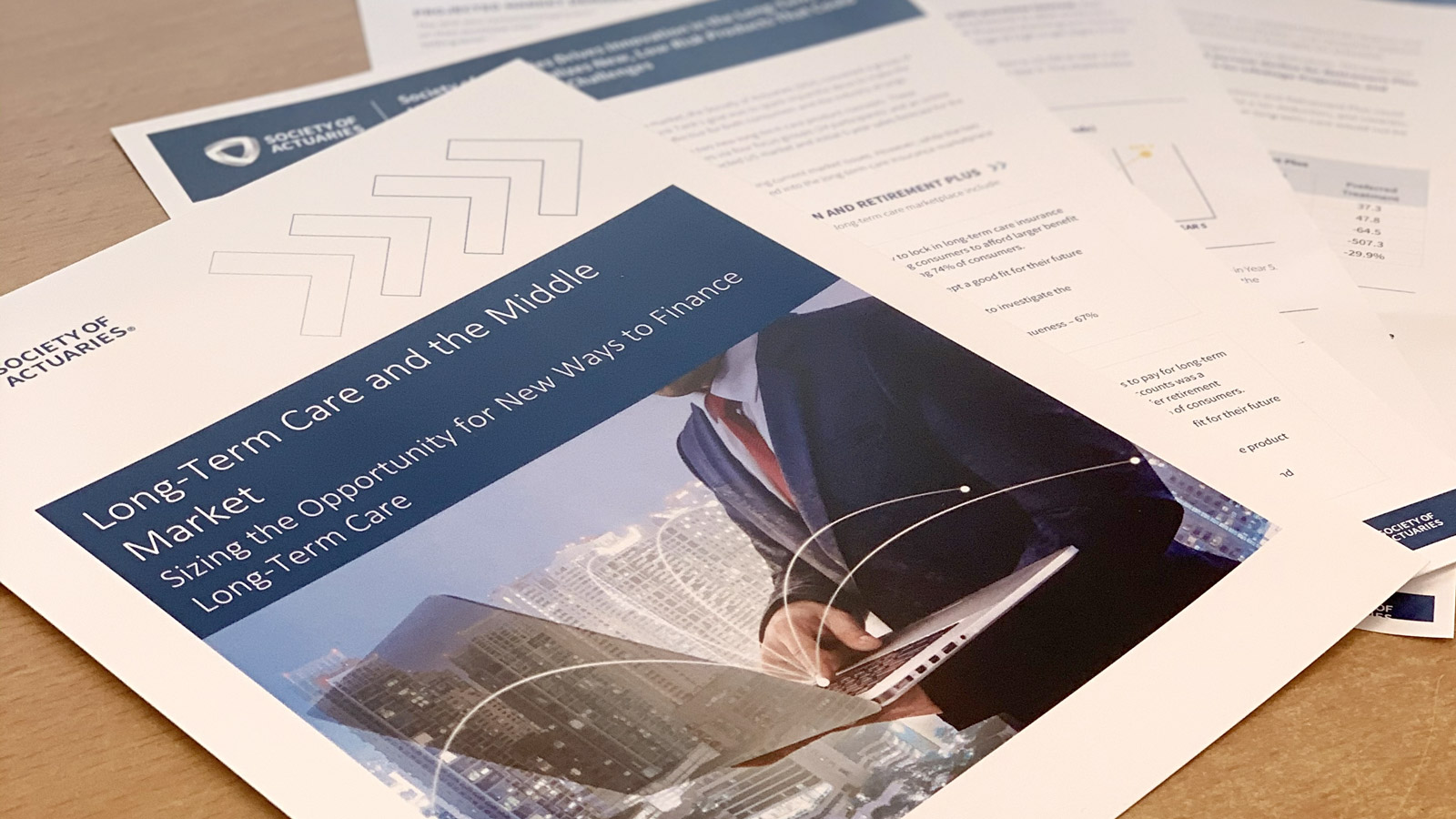 White papers written by the Society of Actuaries and Maddock Douglas to illustrate the opportunities created by the tested long-term concepts