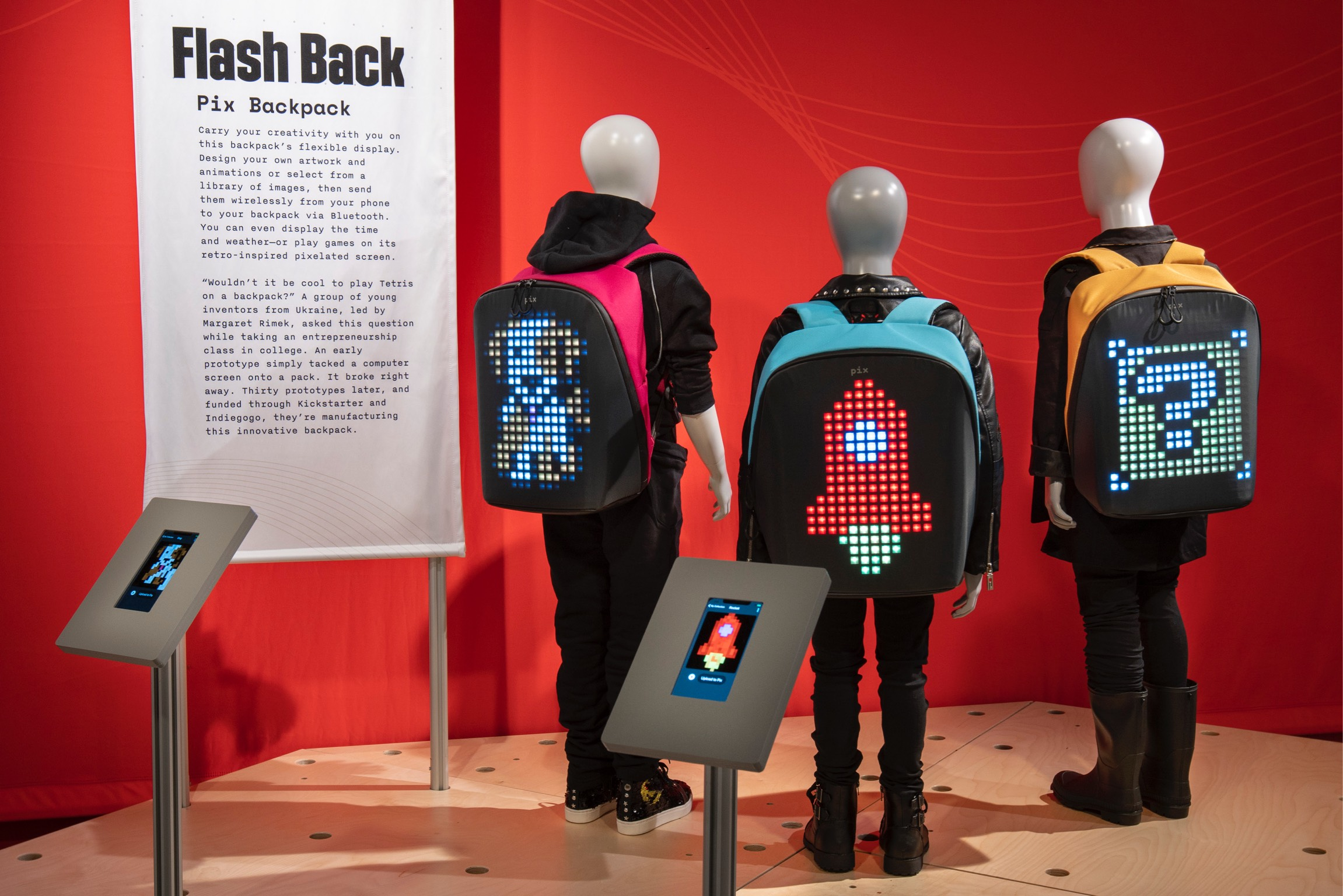 With a PIX backpack, you can send images wirelessly from your phone. (J.B. Spector/Museum of Science and Industry, Chicago)