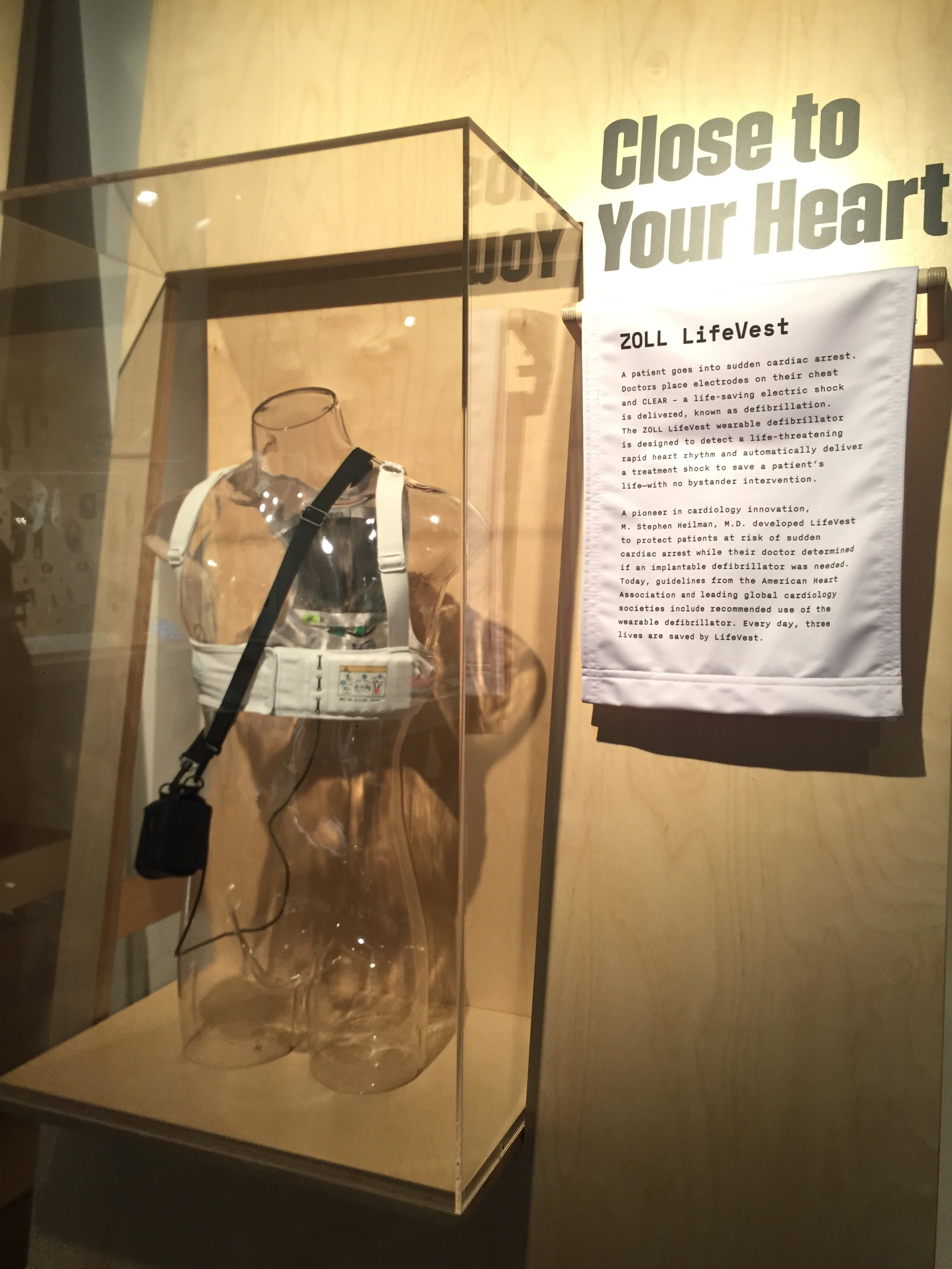 A wearable defibrillator that's currently saving lives, developed by Dr. M. Stephen Heilman.