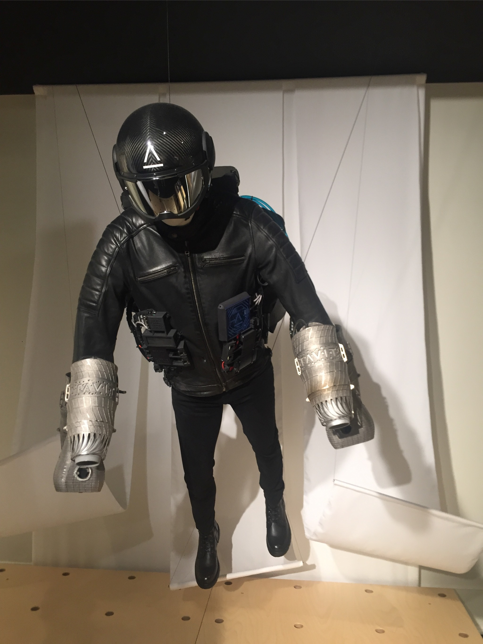 Created by Richard Browning, chief test pilot and founder, this Jet Suit can travel more than 30 miles per hour and ascend to 12,000 feet.