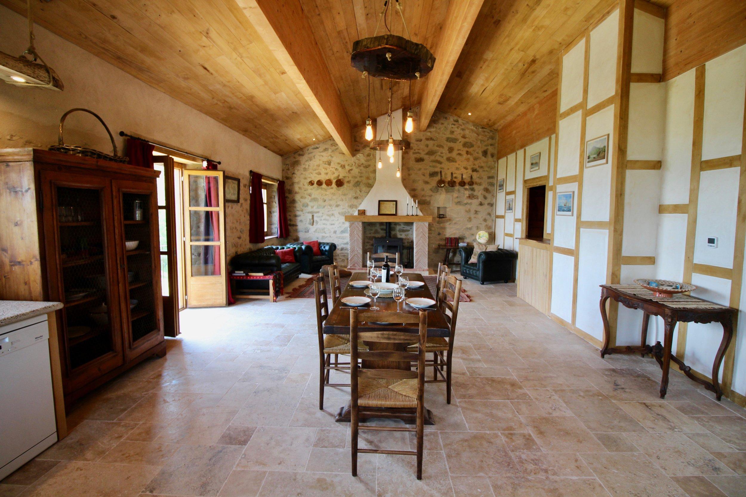 Vast open plan living/dining area