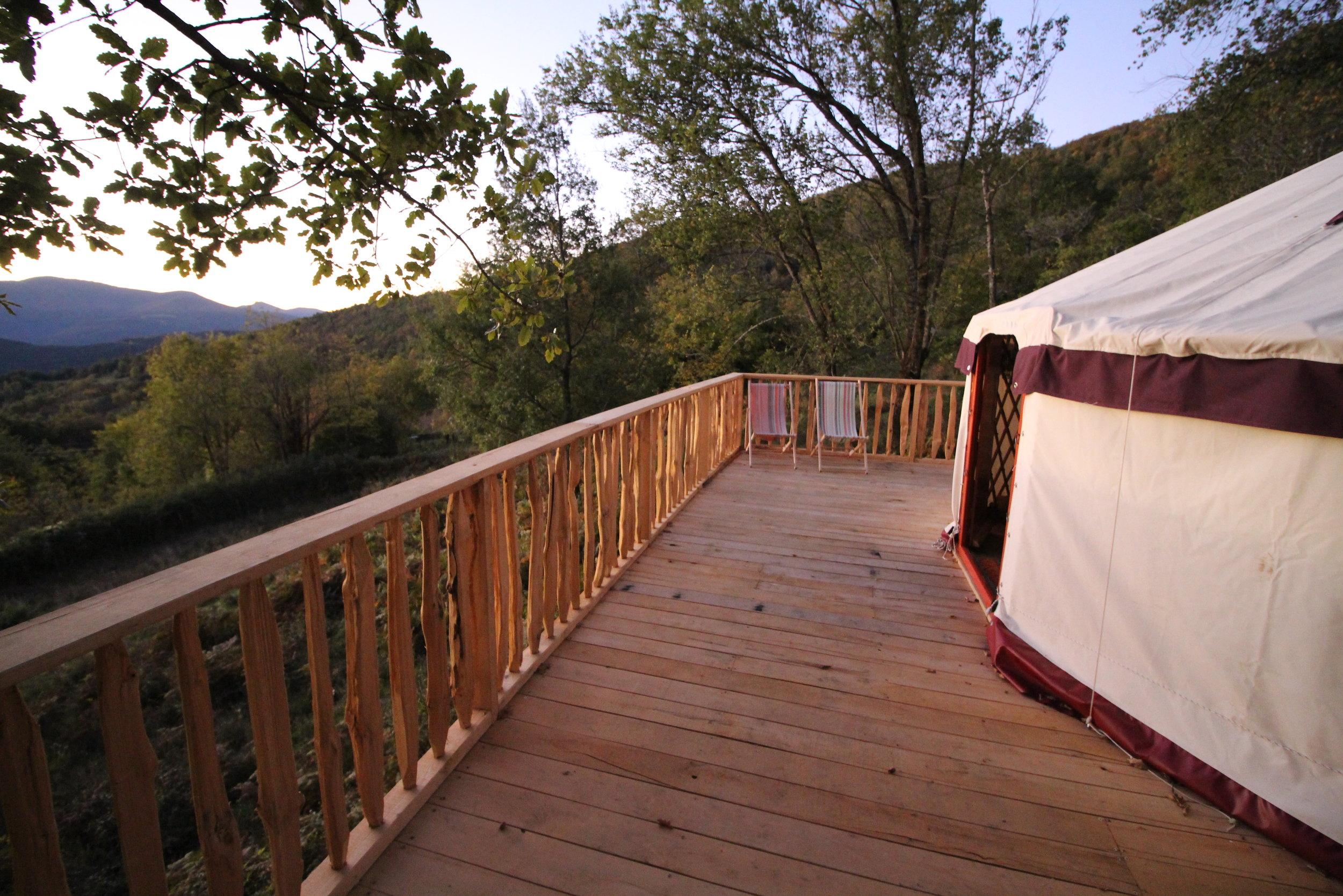 Yurt platform & railings