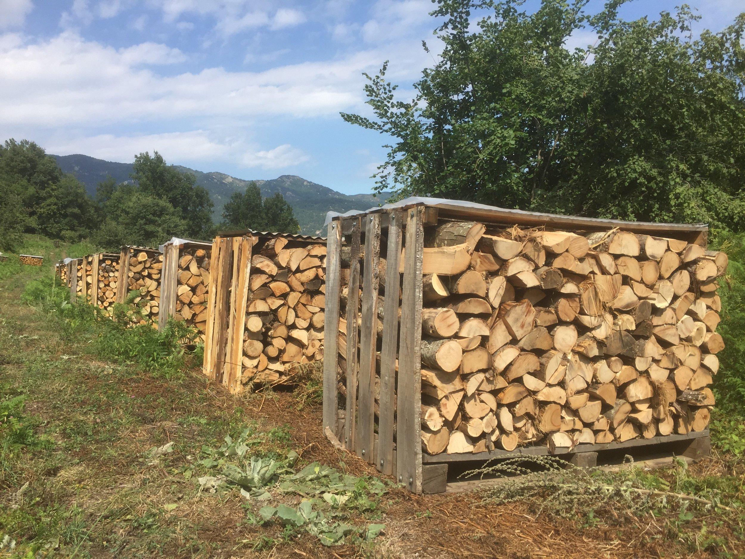 Stillages for firewood