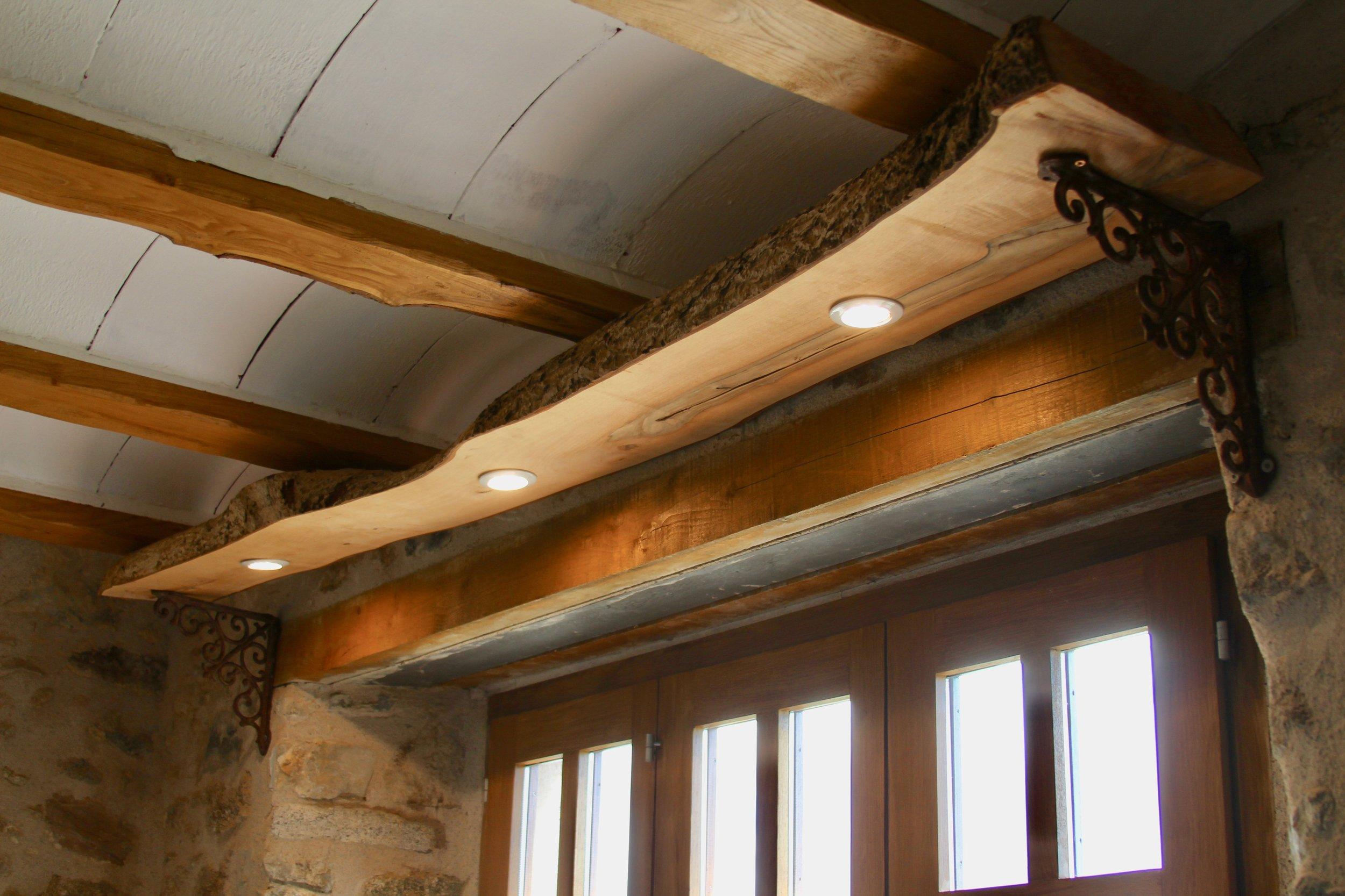 Rustic lighting in Gite Canigou