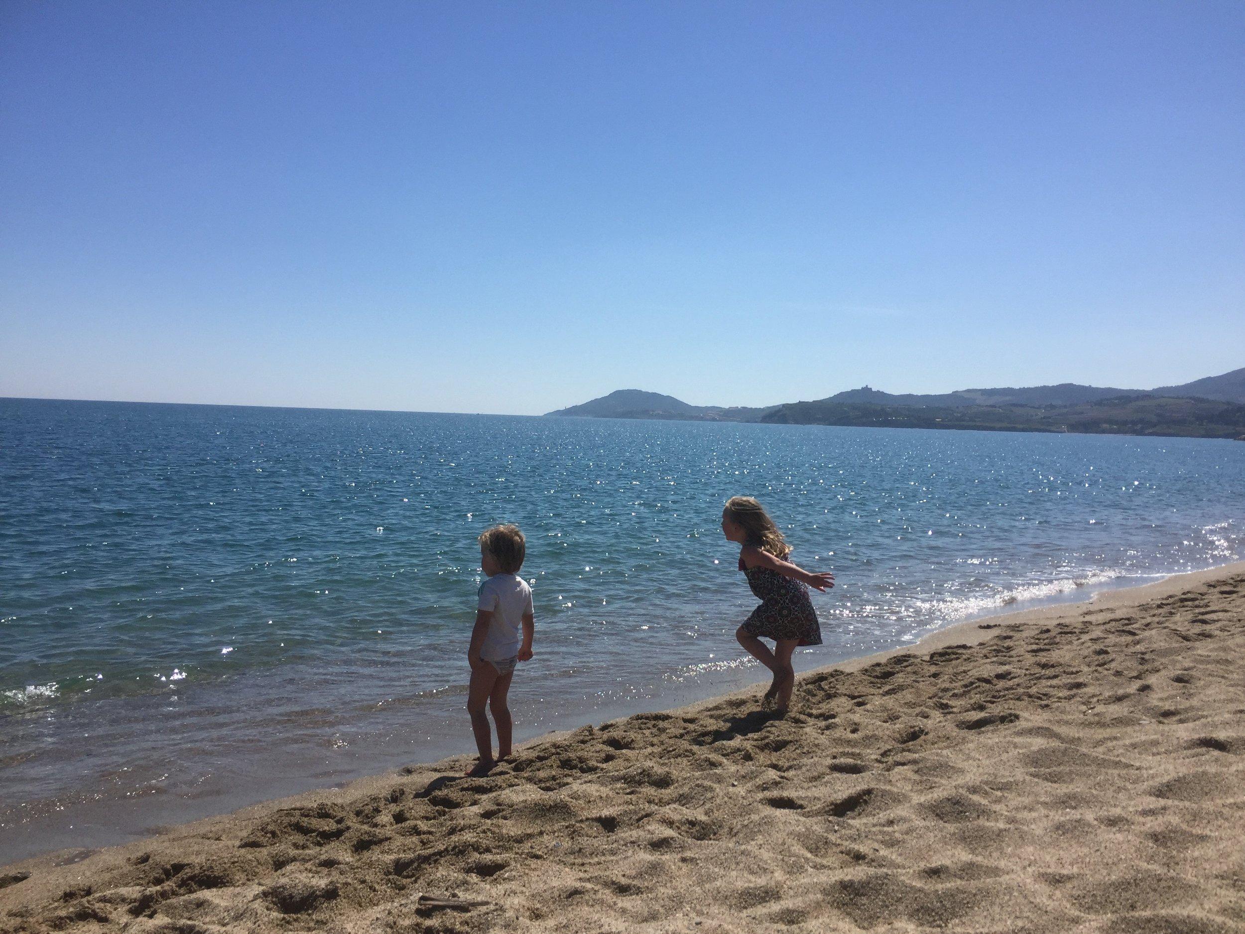 One of the many beaches white sandy beaches around Argeles