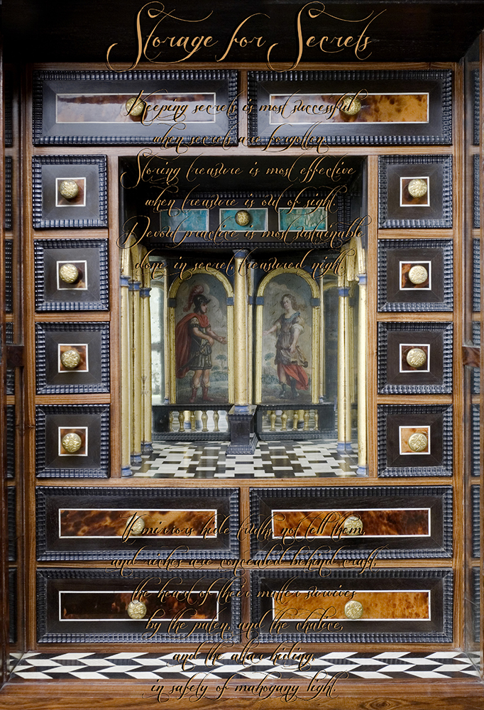 © Helena Cavan, 2013 Coughton Cabinets of Curiosities, for Mass Cabinet.