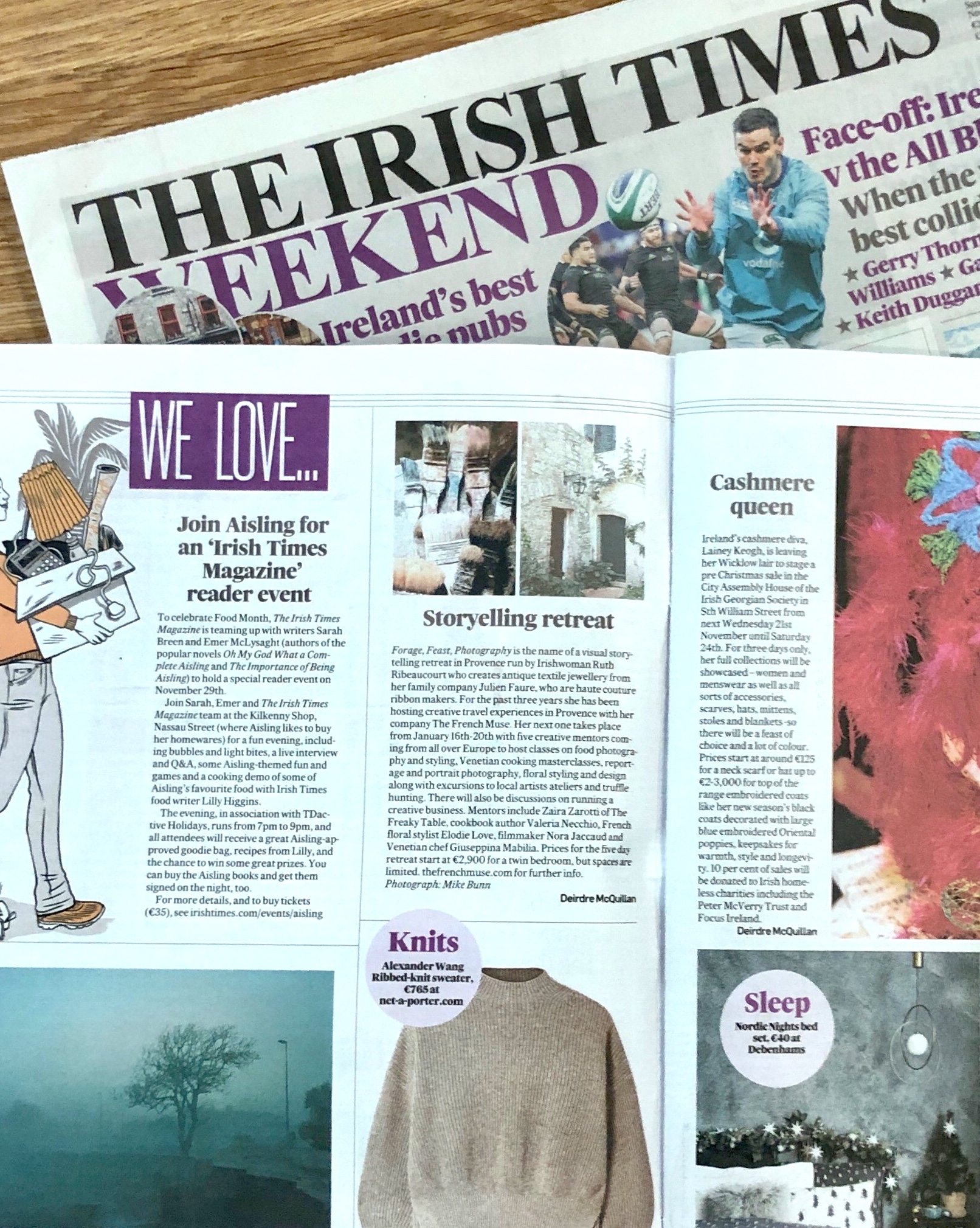 Irish Times Saturday Magazine, The French Muse