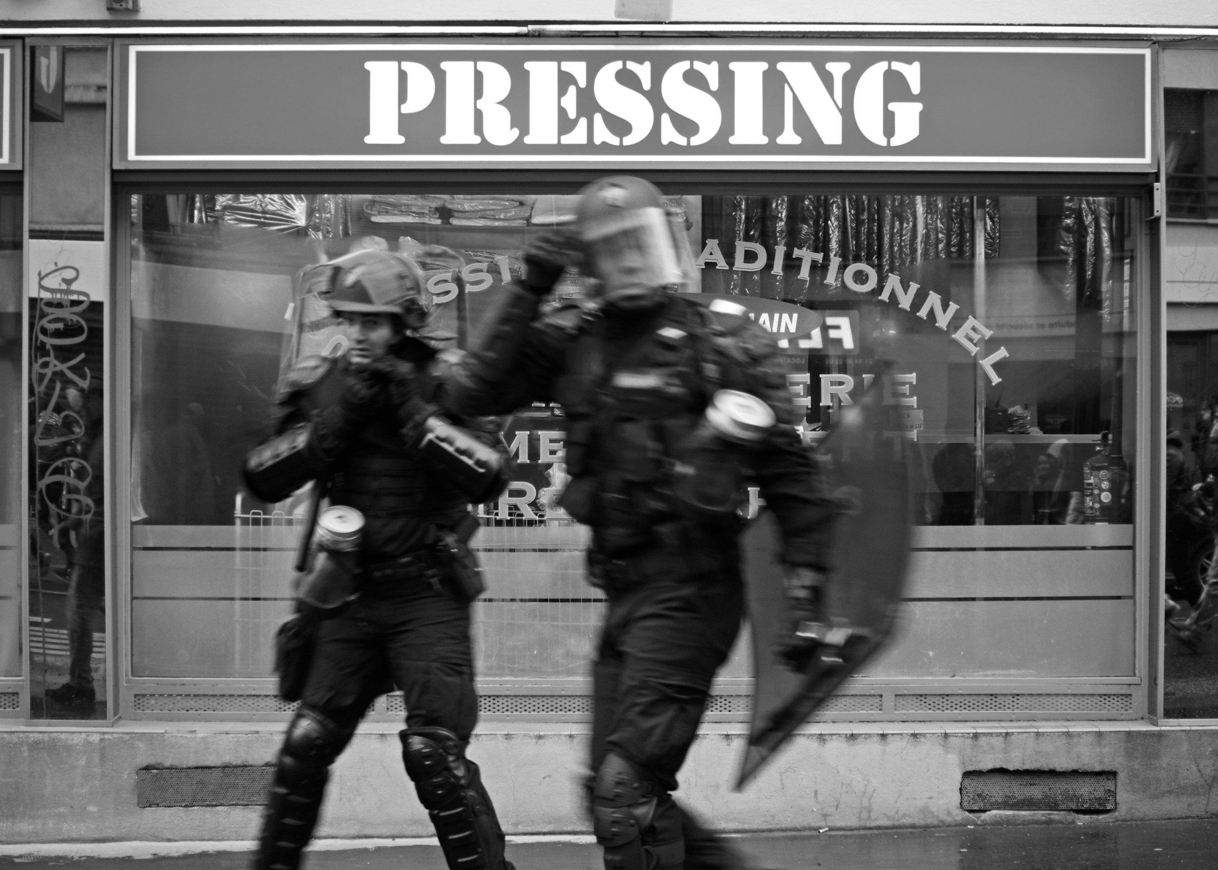 Pressing.
