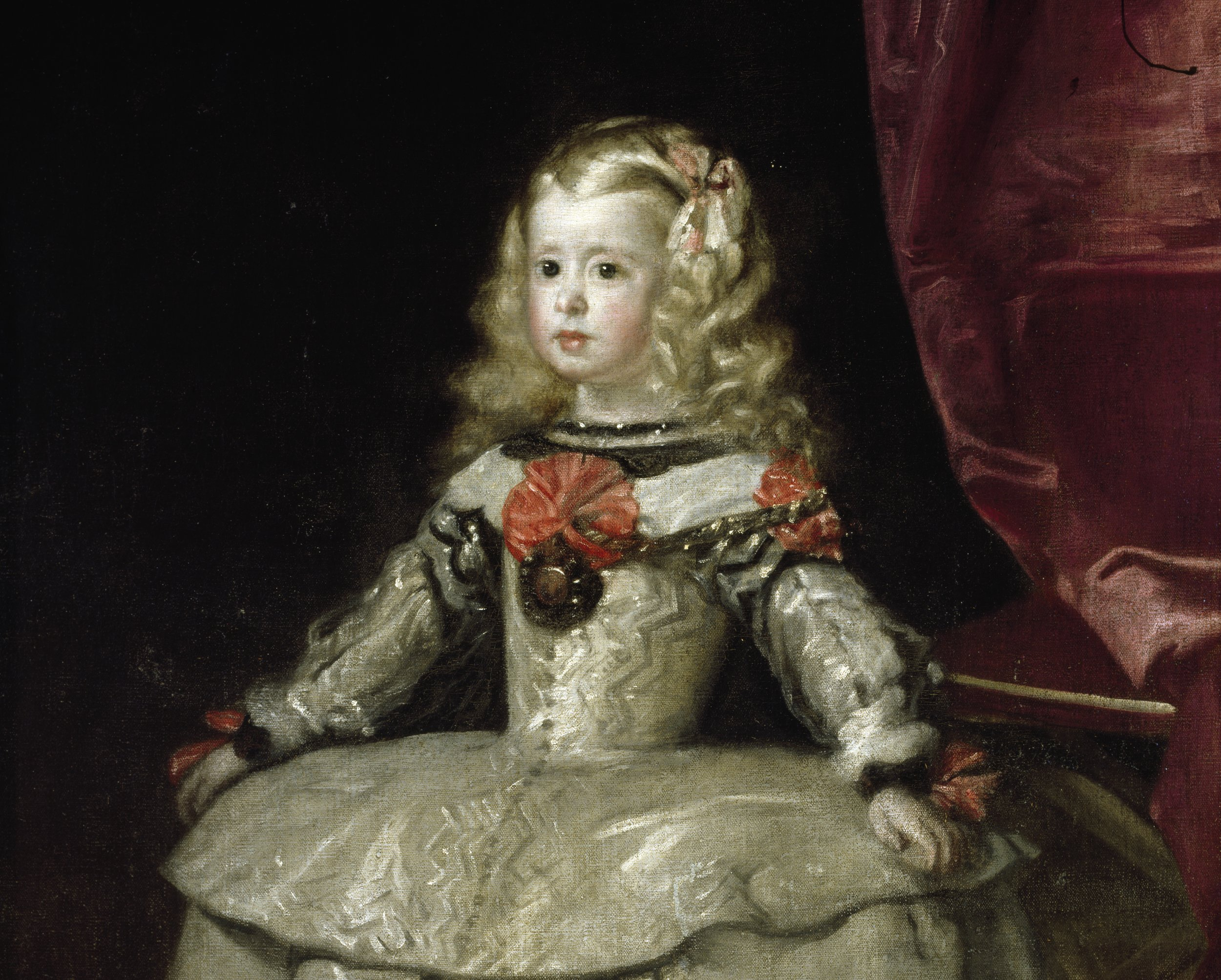 Attributed to Diego Rodríguez de Silva y Velázquez,  Doña Margarita Teresa, Infanta of Spain,  c. 1656