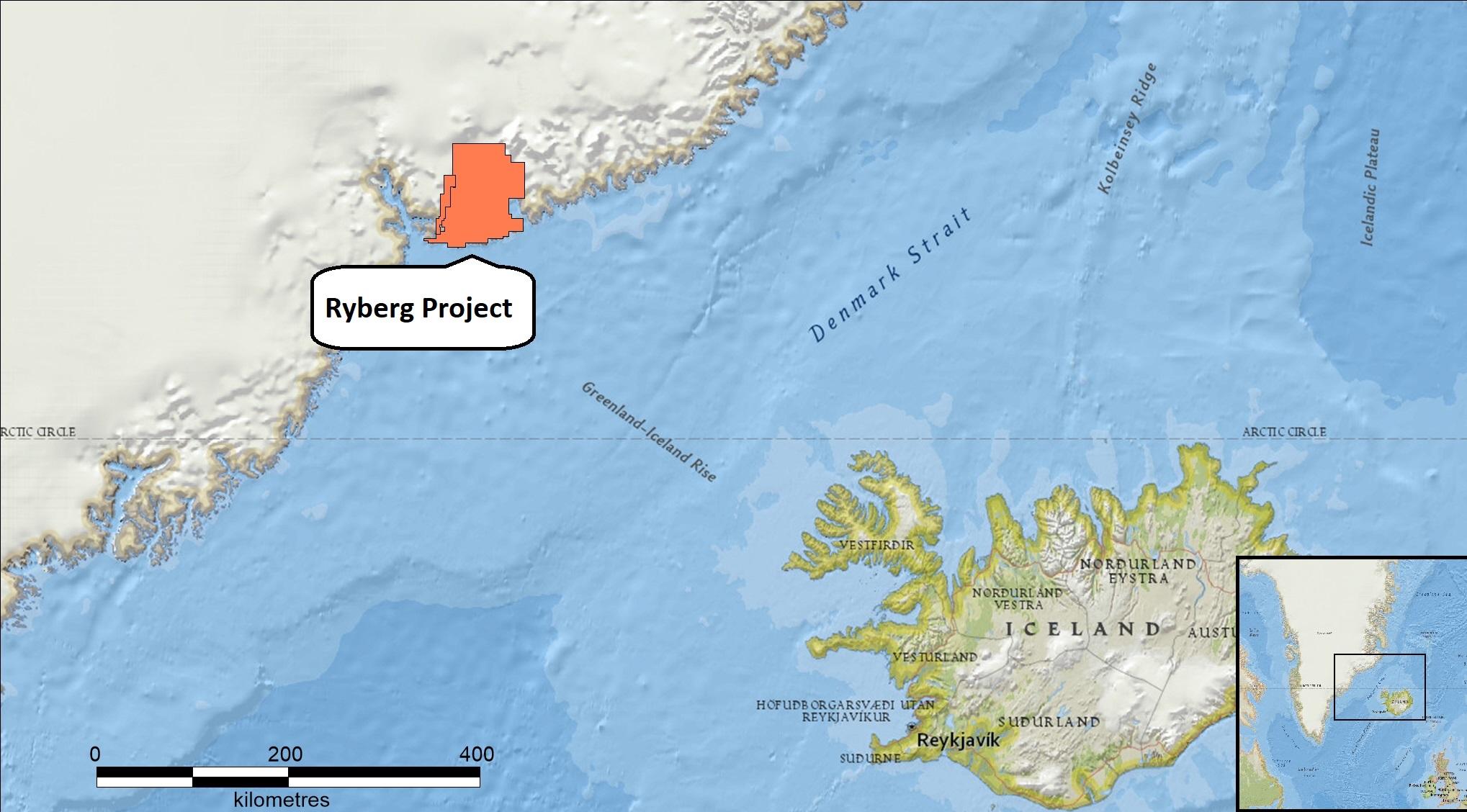 Greenland Iceland map Miki copper gold palladium platinum nickel cobalt