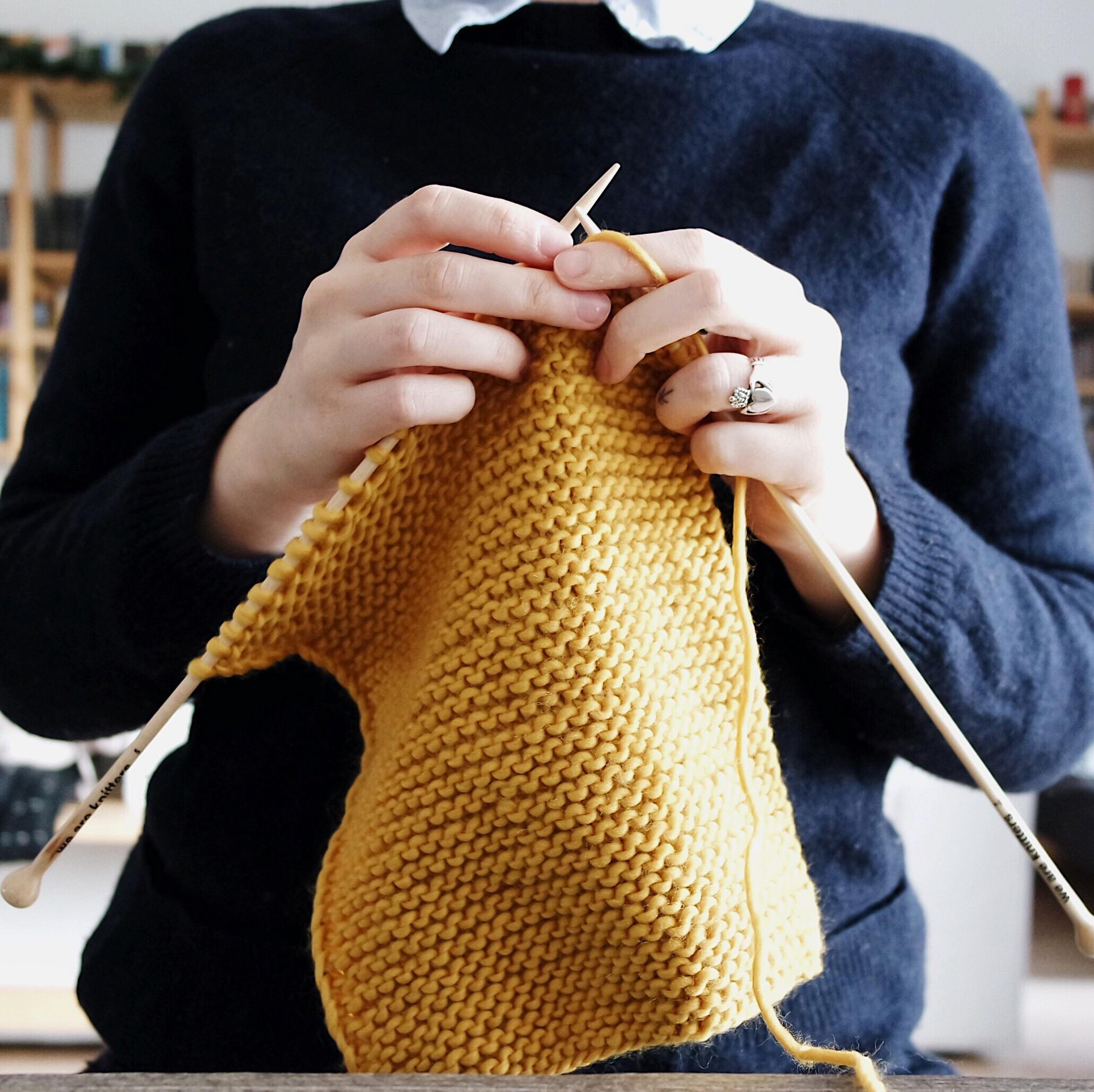 Me Knitting.JPG
