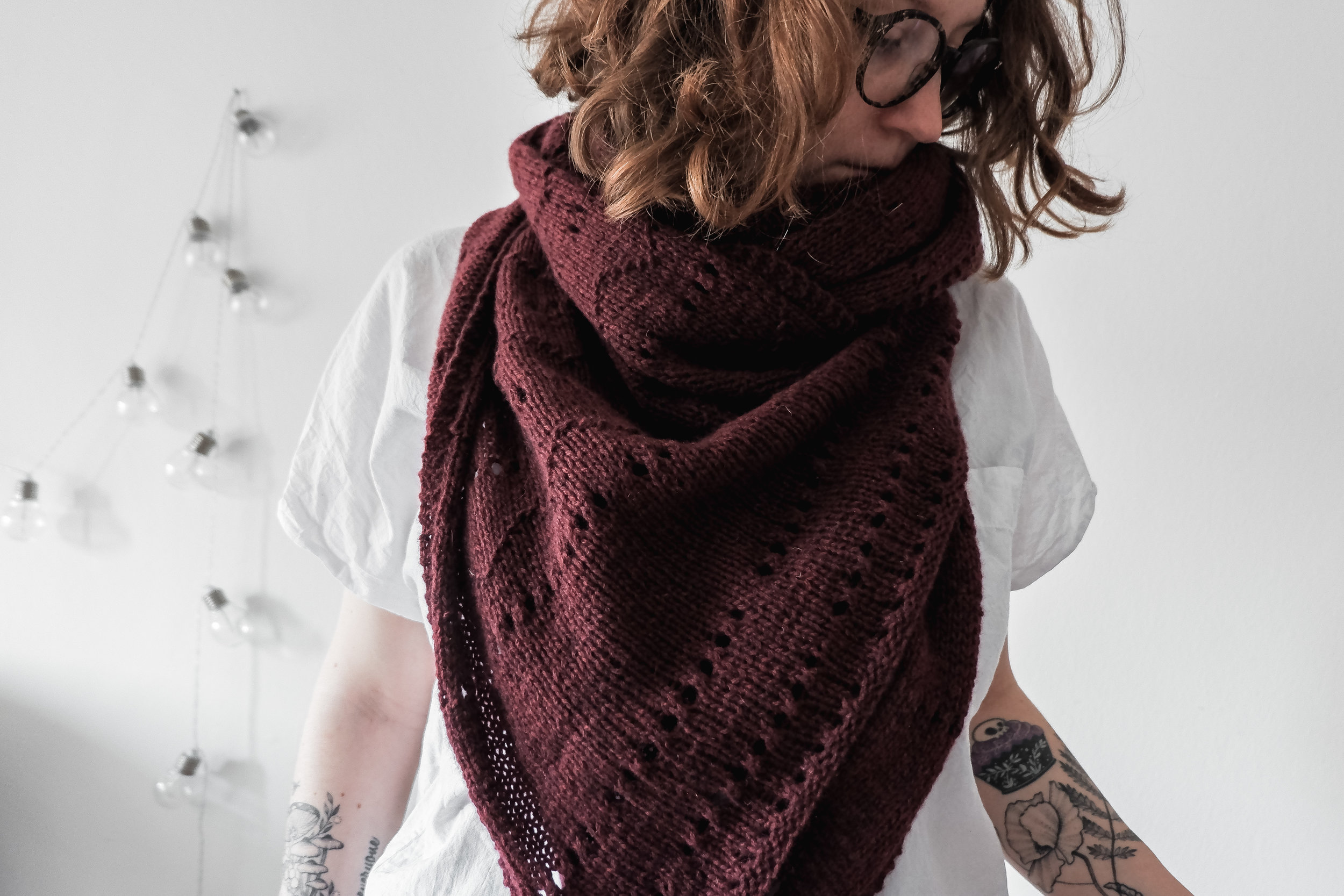 Slow Monday Wrap, in collaboration with    Cardiff Cashmere    Under test knit