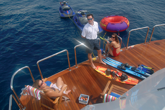 Luxury Charter Yacht Never Enough Swim Platform