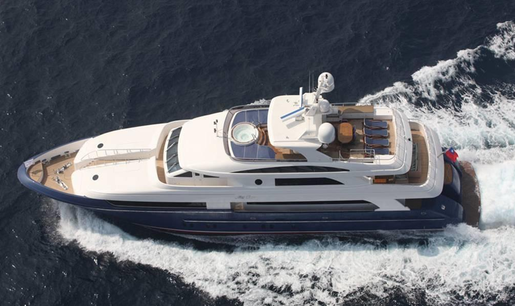 M/Y Lady Leila   This Horizon features two above-deck Masters that set her apart!
