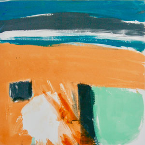 Keep Cool by Iona Stern. Screen print monotype