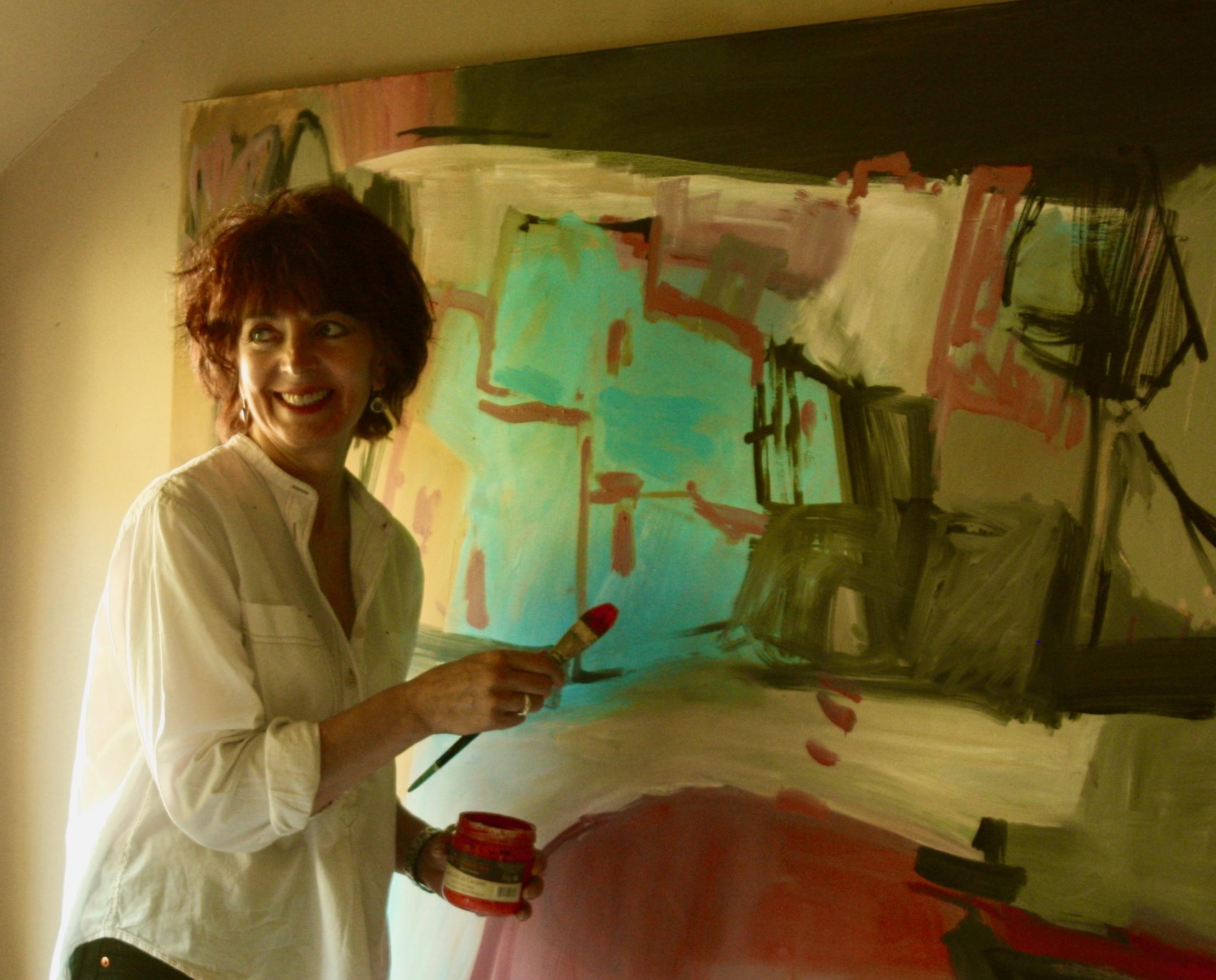 Iona in her studio