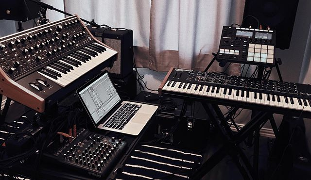 Last week we acquired the final piece to our synth setup, the Moog Subsequent 37. This beauty will be making her debut at our show this Thursday night at @sundownatnite opening for the lovely @brigittemenamusic. Who's coming? 🙋🏻‍♀️(Ticket link in bio)