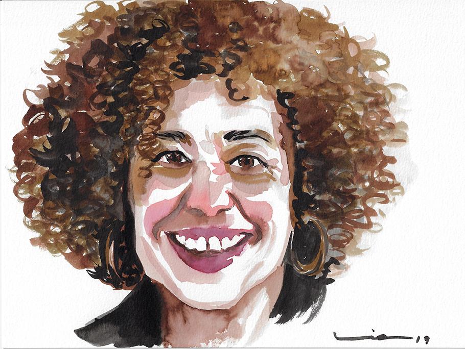 Angela Davis, thinker, Professor and historical activist