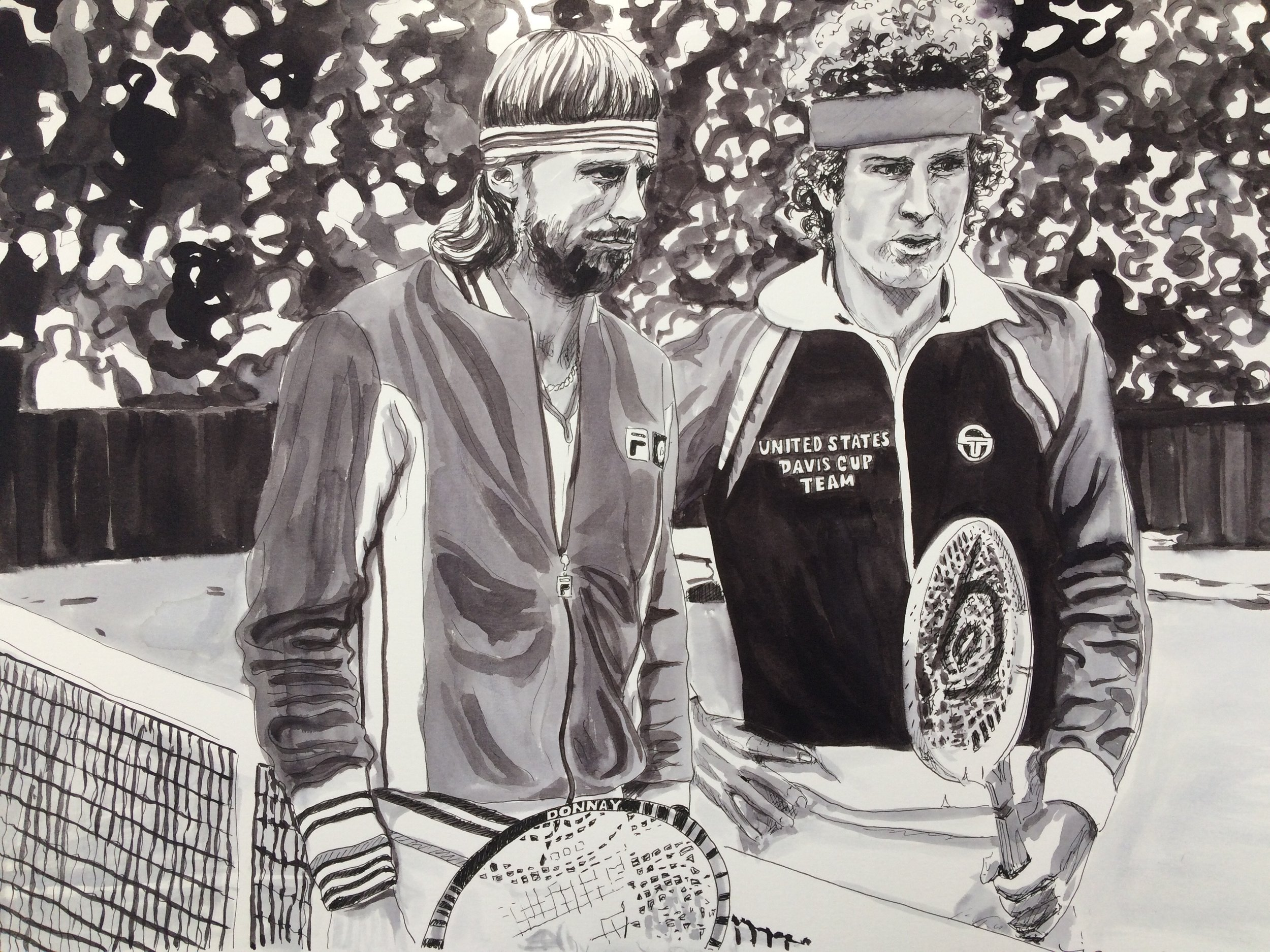 John McEnroe and Bjorn Borg, 1980 men's singles final at Wimbledon