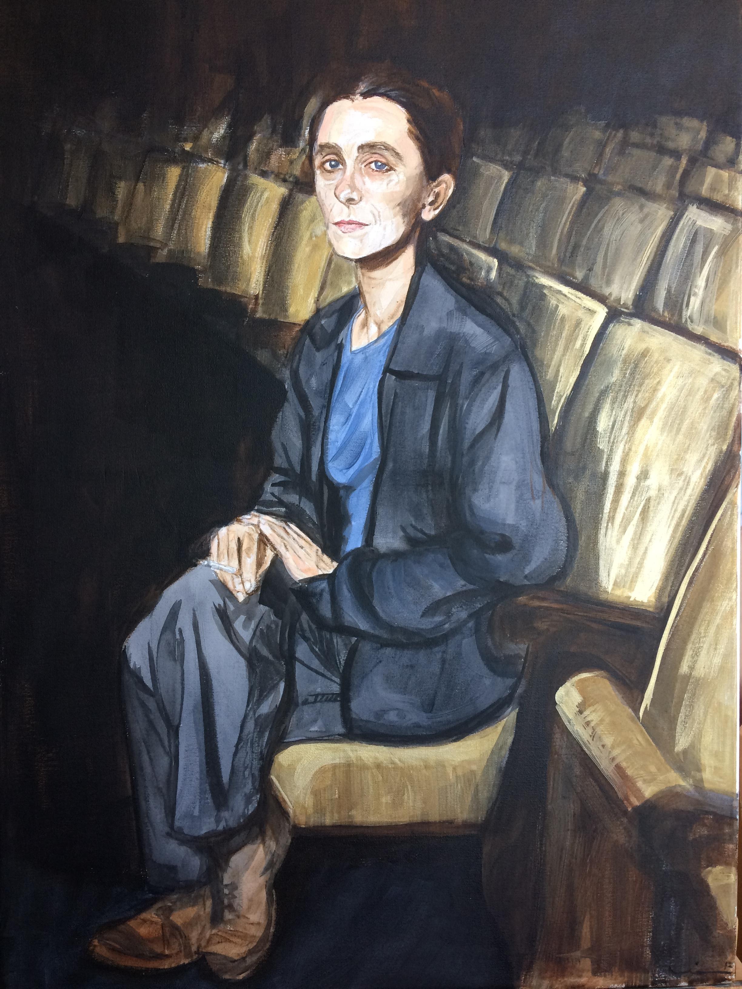 Pina Bausch, portrait.