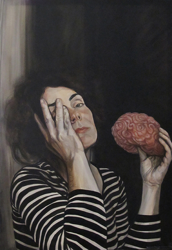 Brain Pain / Dor - WIP, Oil on Canvas / Óleo Sobre Acrílico Sobre Tela, 60x90cm