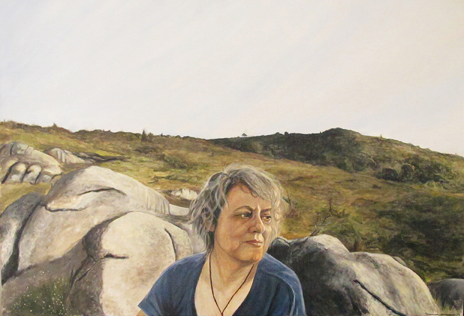 Isabela On The Rocks / Isabela Nas Pedras, Acrylic on canvas / Acrílico Sobre Tela, 90x60cm