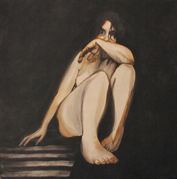 Jardim III - WIP, Acrylics on Canvas / Acrílico Sobre Tela, 100x100cm