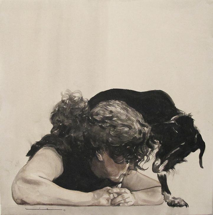 Look / Olha, Acrylics on Canvas / Acrílico Sobre Tela, 60x60cm
