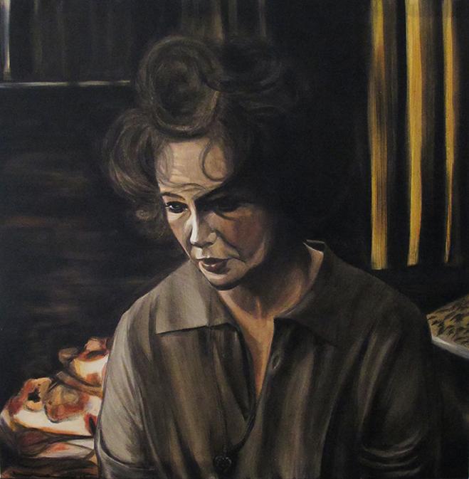 Elizabeth, Oil over Acrylics on Canvas / Óleo Sobre Acrílico Sobre Tela, 60x60cm
