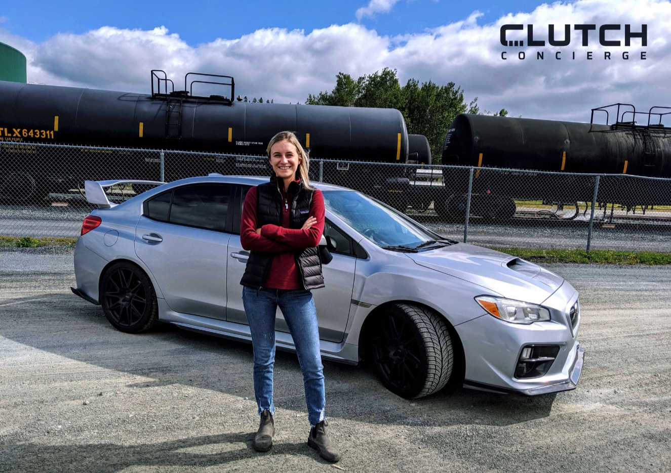 ALLY AND HER SUBARU WRX