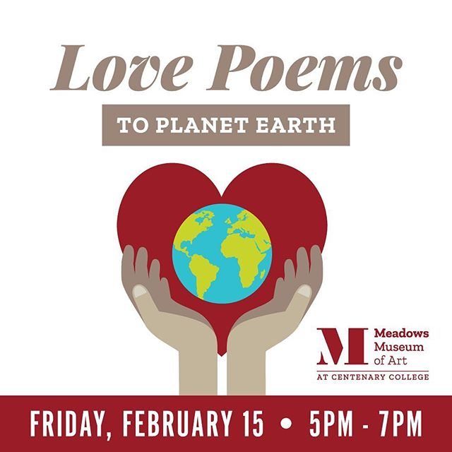 February 15, join @meadowsmuseum for an evening of Love Poems to Planet Earth. Caddo Parish #PoetLaureate Ashley Havird drew inspiration from Joan Hall's sculptural installation for an event of poetic awareness of our oceans and the current state of our marine ecosystems. Free and open to the public! 5-7pm #318ART #contemporarypoetry #contemporarysculpture #poetryreading #meadows318 #lovepoems #planetearth