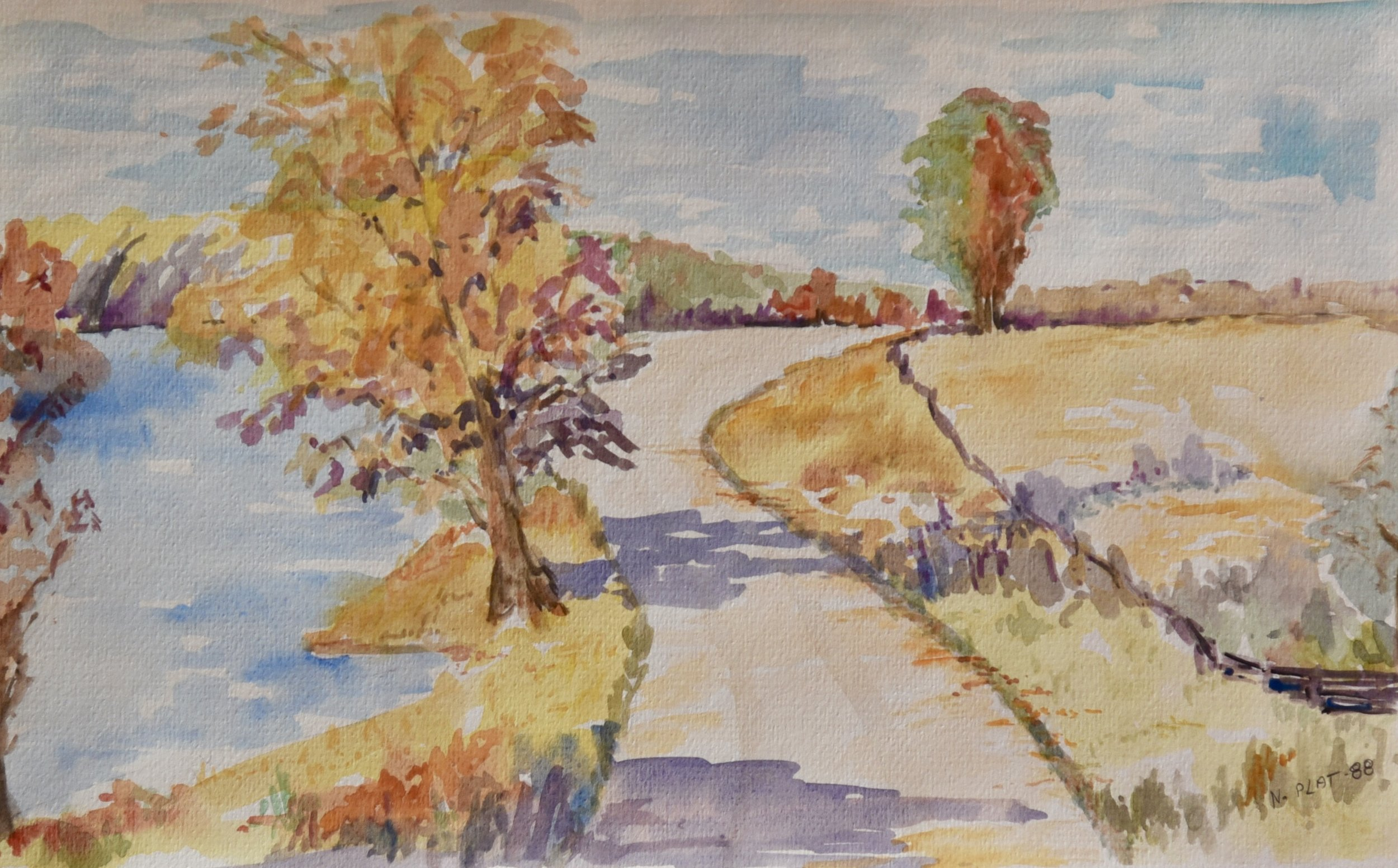 A road by the river_9.5x15_80.jpg