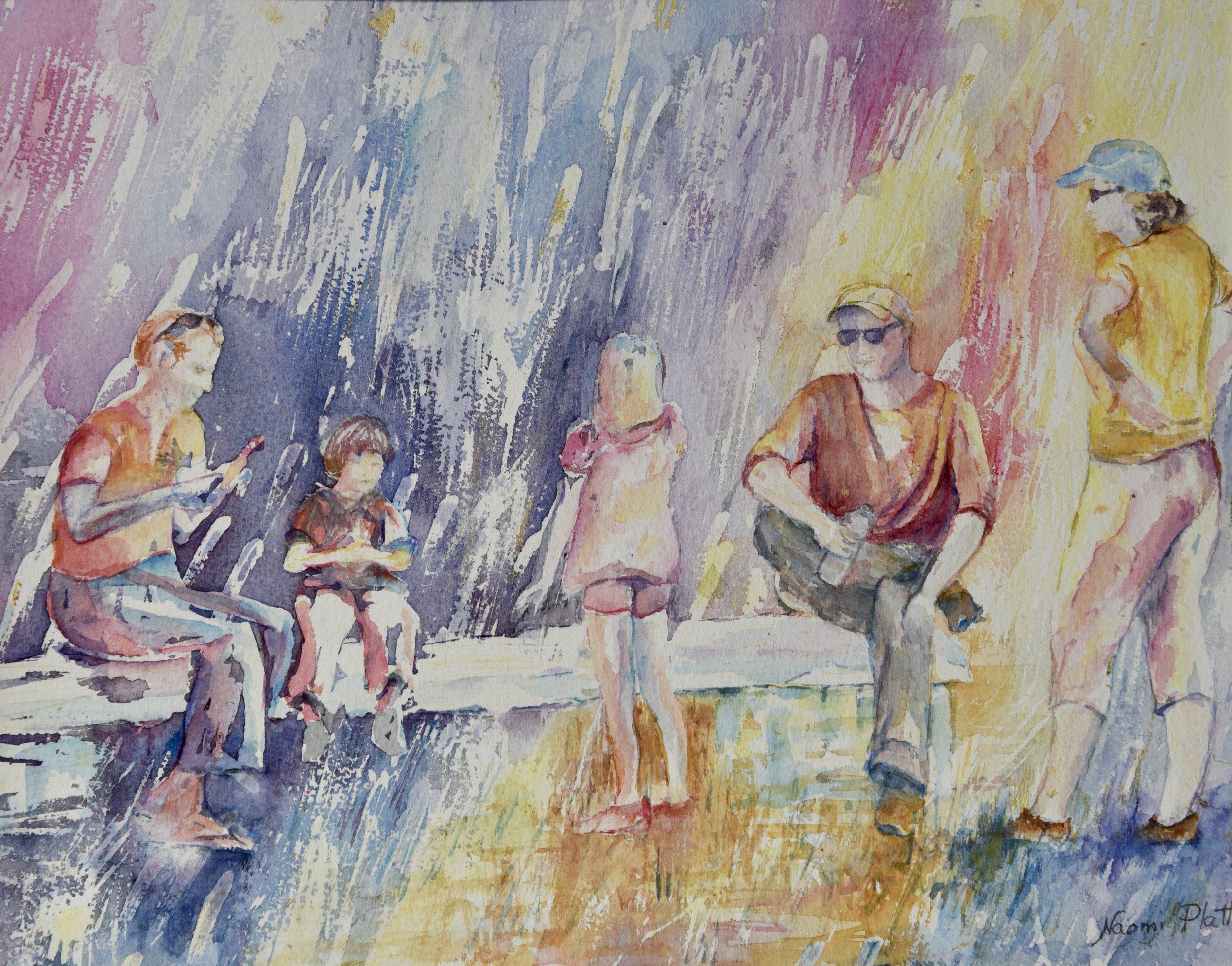 Family Picnic in the rainbow_11.5x14.5_150.jpg