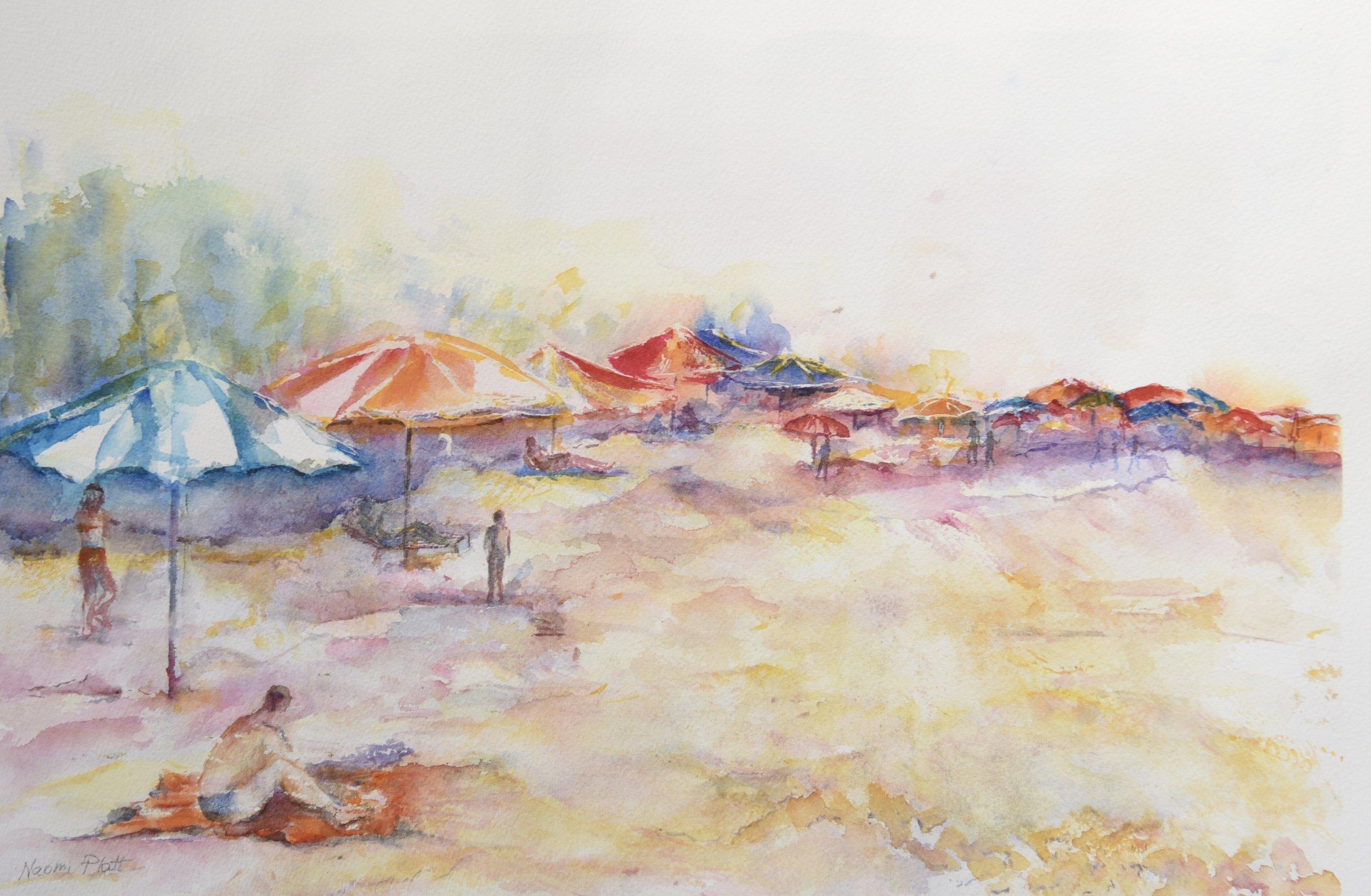 Umbrelas on the Beach_12x18_85.jpg