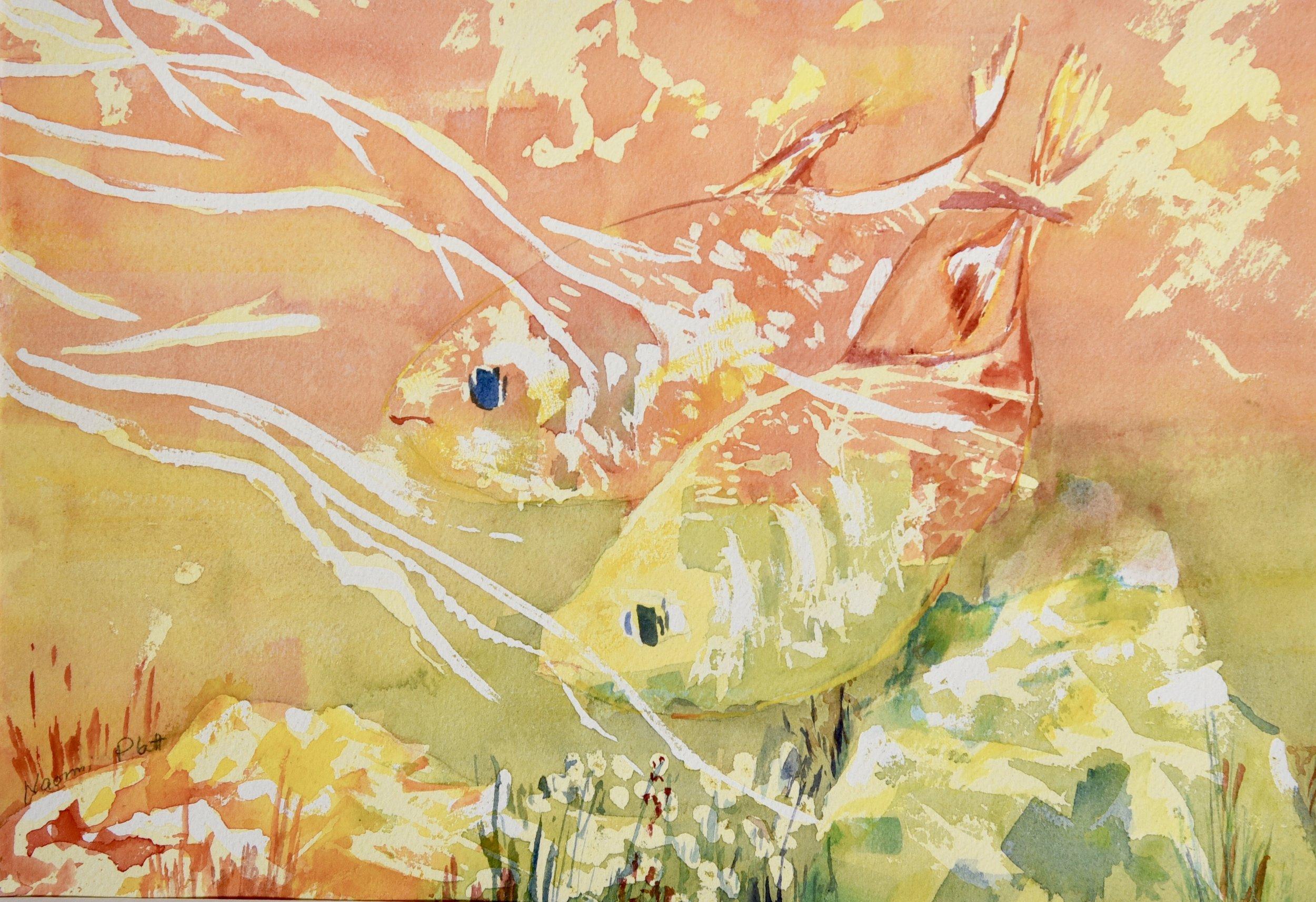 Fishes in Orange_9.5_x13.5_$180.jpg
