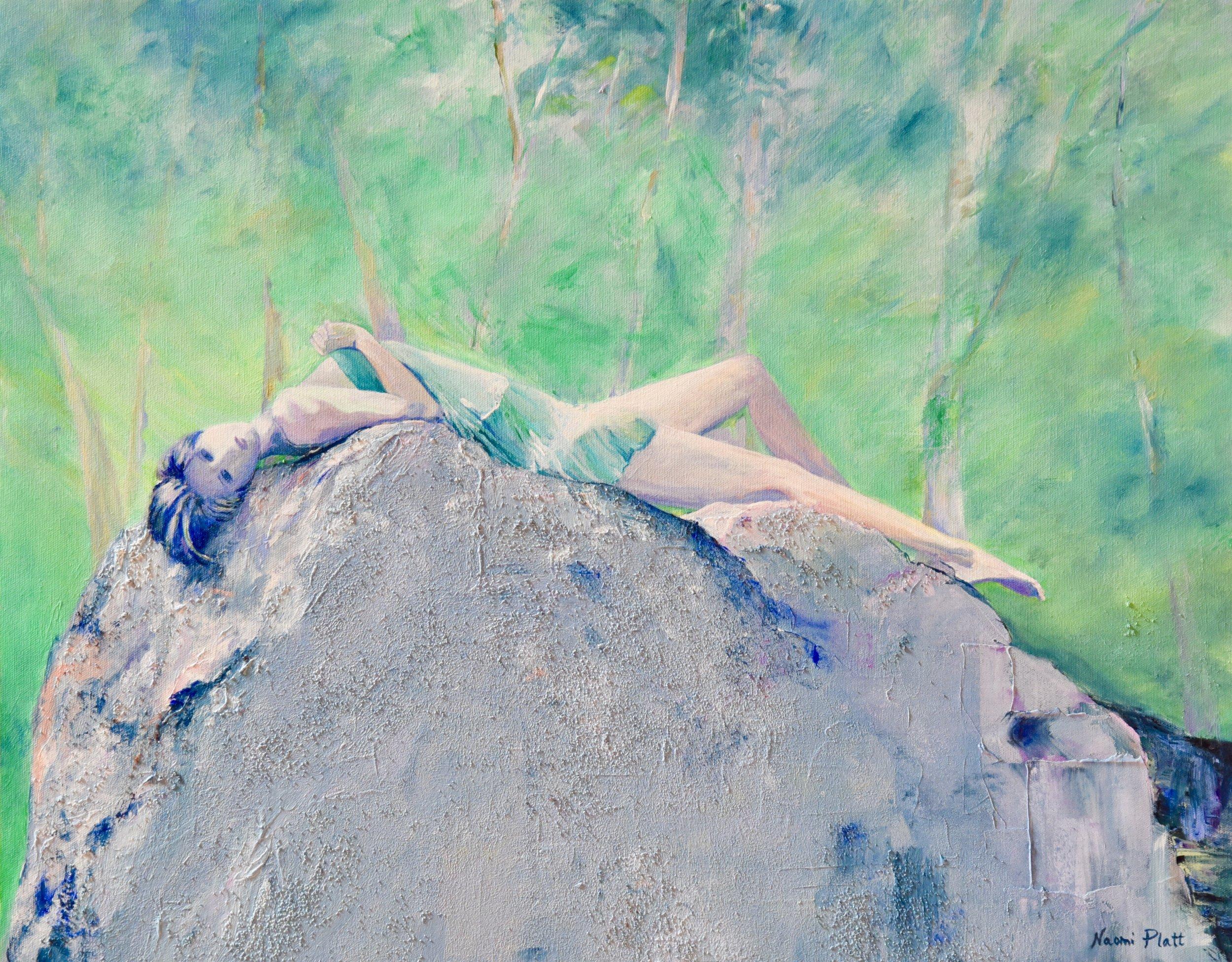 Lying on a rock 24x30 1200jpg.jpg