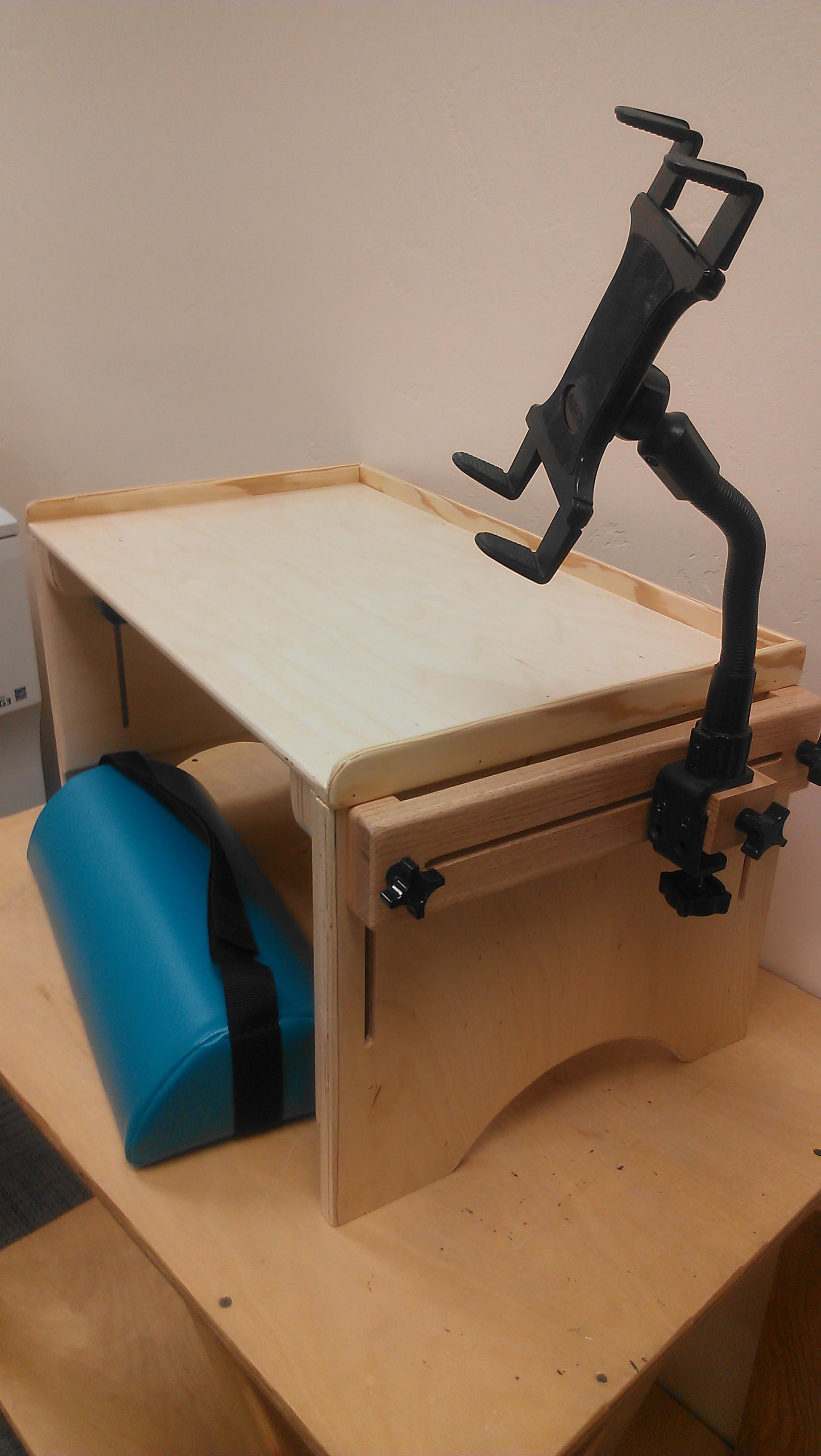 Desk and iPad Holder