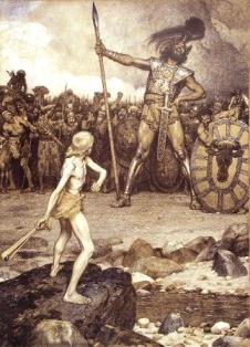 David(left) and Goliath (right)