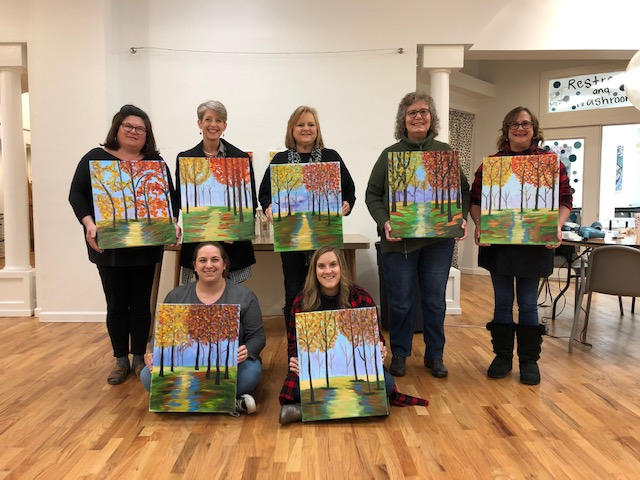 """This was a super fun """"girls night out"""" event lead by our very own Ms. Gussi Causey. This event can be customized to fit your group or cause."""