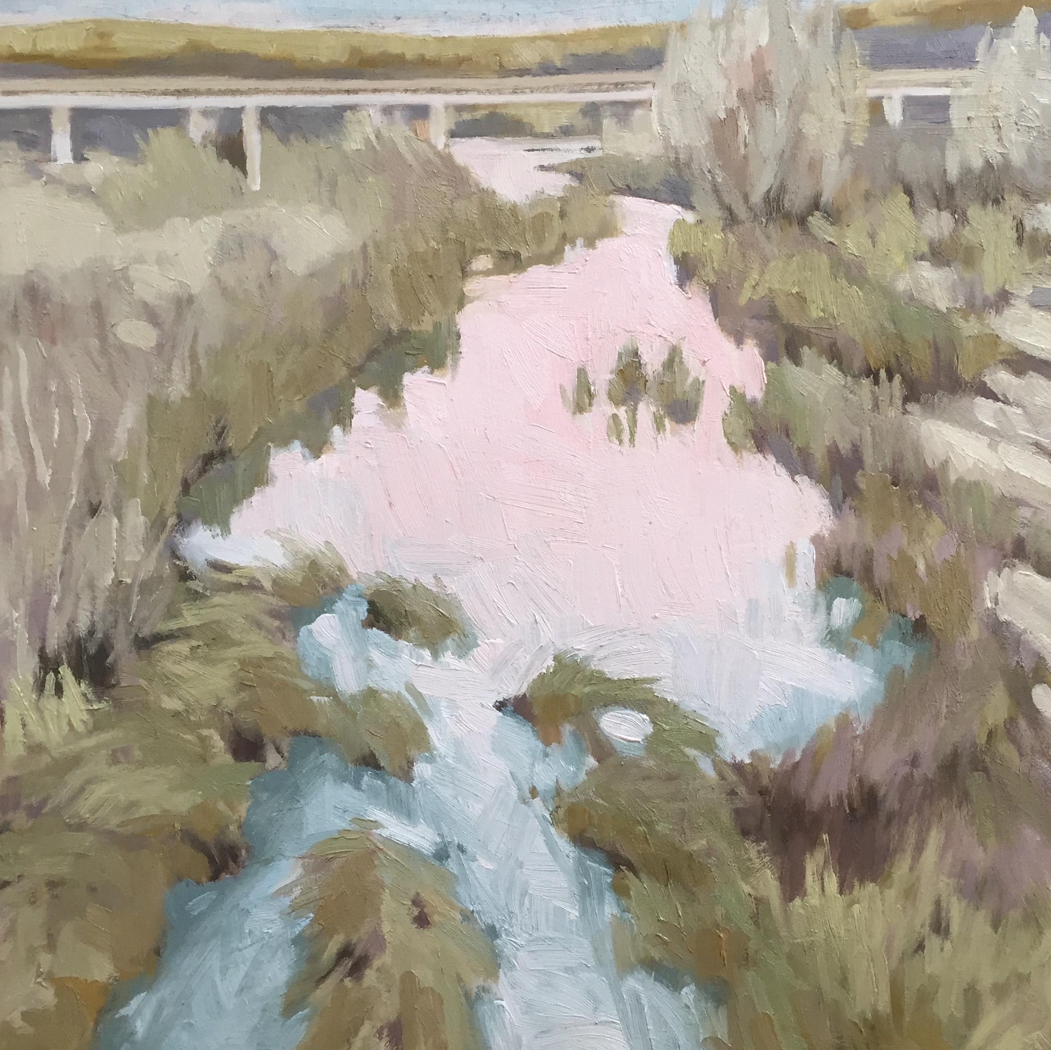 "Evening River at 101 12x12"" oil on birch panel ©N Strasburg"