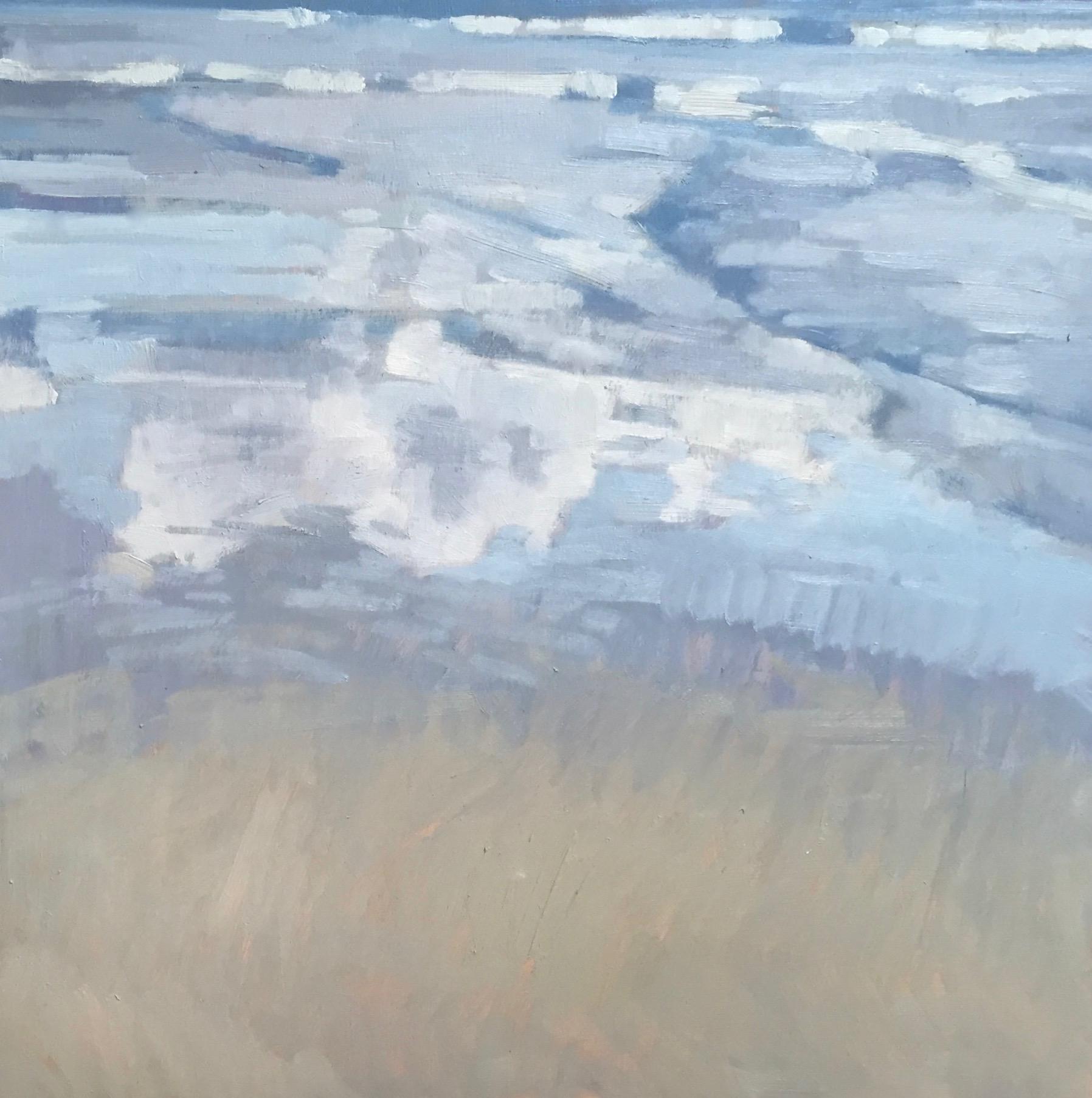"Sky Reflections 12x12"" oil on birch panel ©N Strasburg"