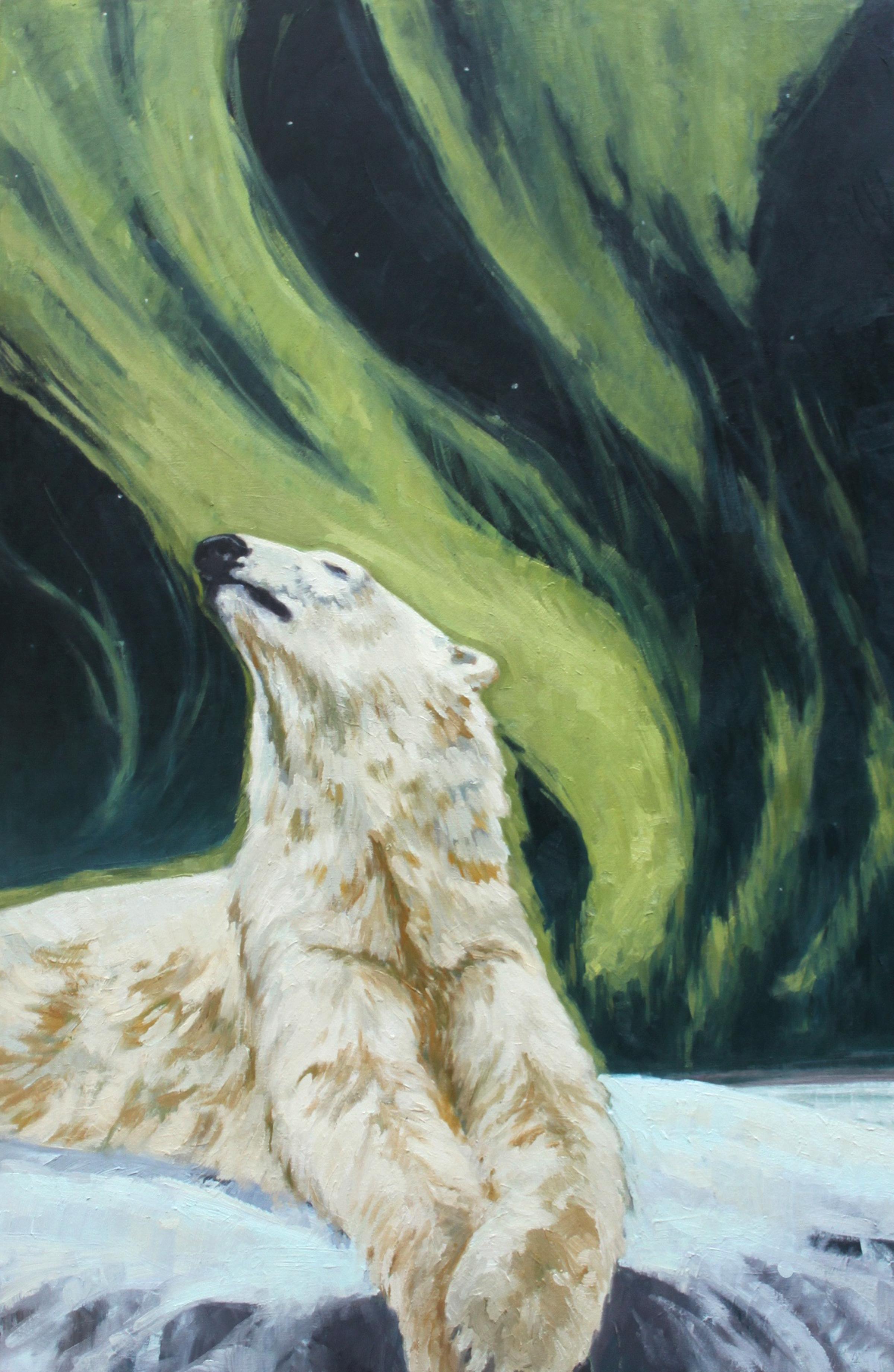 "Ice Dreams  oil on birch panel 30x20"""