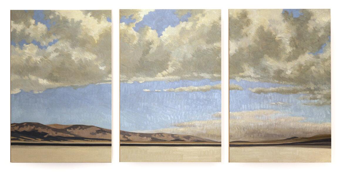 Badwater, Death Valley (triptych)