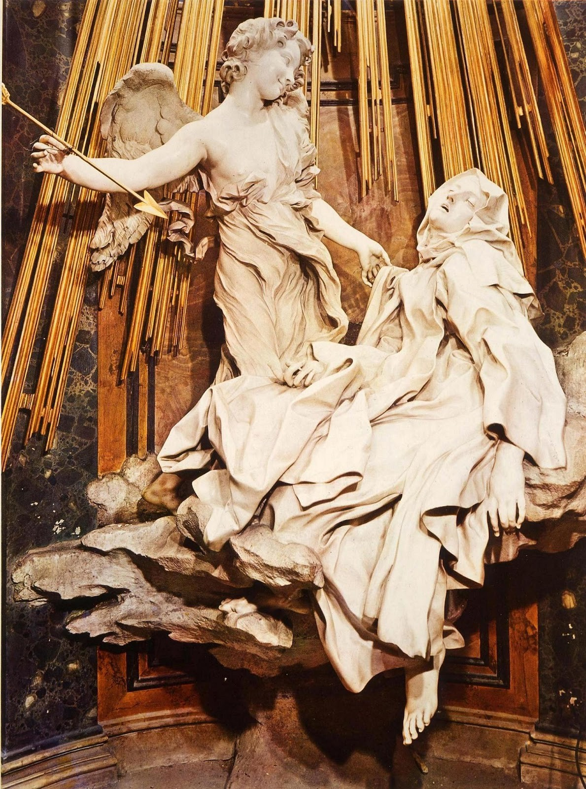 Bernini:  Ecstasy of St Teresa, 1647-52:  fifty shades of alabaster