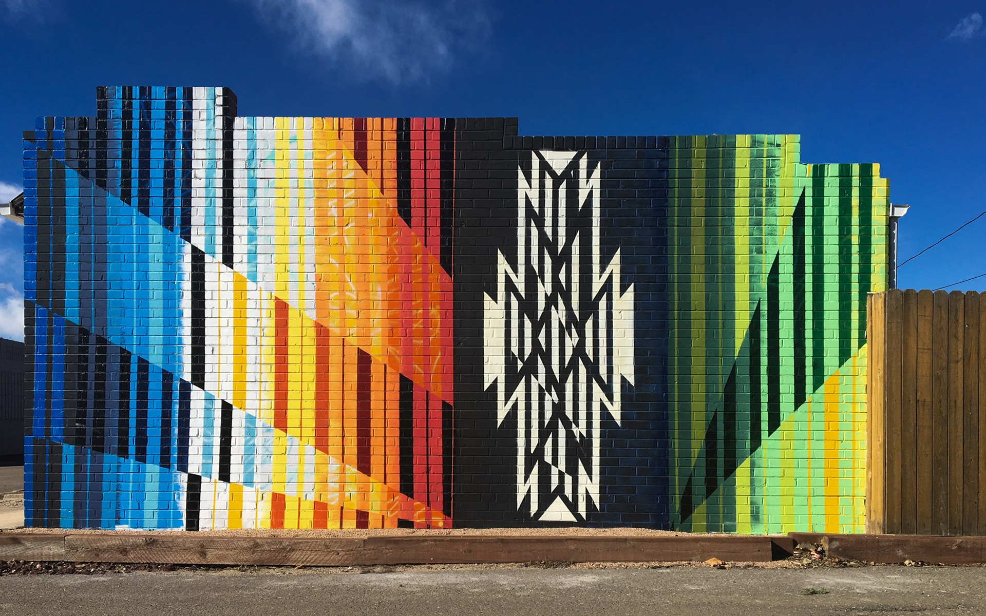 Denver mural by Anthony Garcia and augmented by Mussa