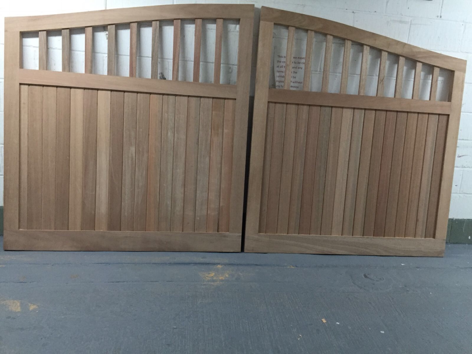 - The gates are ready to be sent to site to be fitted.